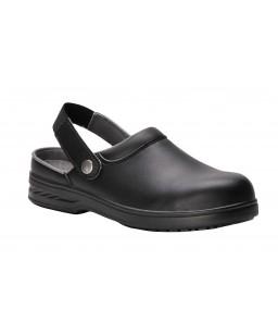 FW82 ādas apavi ar dzelzs purngalu un siksniņu