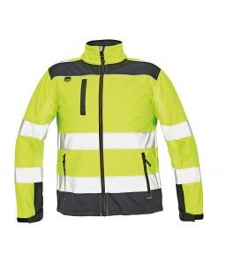 Softshell jaka, augstas redzamības Hi- Viz, mikroflīsa iekšodere, augstā apkakle,  RYTON