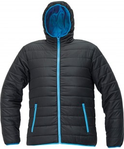 Stepēta ziemas vīriešu jaka ar kapuci, vēju un ūdens atgrūdošs audums, FIRTH