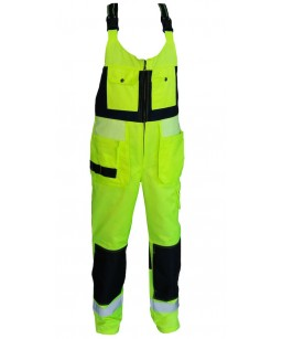 Kvalitatīvs darba puskombinezons ar augsto muguru, augstas redzamības, VeraV ražojums PK013HIVIZ