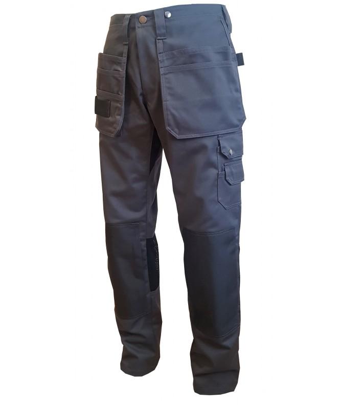 Kvalitatīvas Darba Bikses ar piekarkabatām, izturīgs 300 g/m2 audums, metāla pogas, rāvejslēdzis. VeraV ražojums