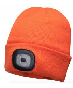 Cepure ar LED apgaismojumu, USB lādējama