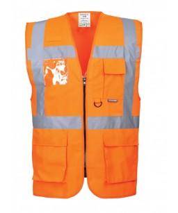Atstarotāju veste ar kabatām S476, orandža