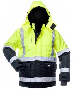 Теплая зимняя куртка с капюшоном 8948