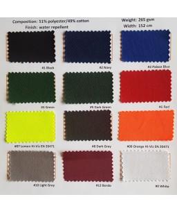 Pieejamo audumu krāsu varianti