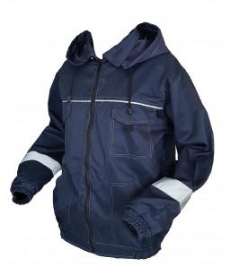 Darba jaka ar noņemamu kapuci un atstarotājiem J015K