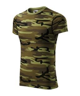 Kamuflāžas T-krekls unisex, kamuflāžas zaļs