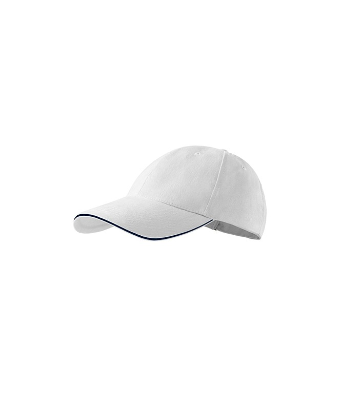 306 Beisbola Nagcepure ar Kantīti, White/ Balta