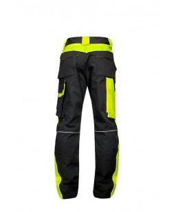 Darba Bikses NEON, melnas ar neon dzeltenu krāsu