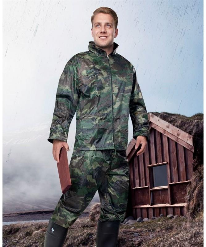 Lietuskostīms ( jaka un bikses) PVC/Neilons, kamuflāžas.