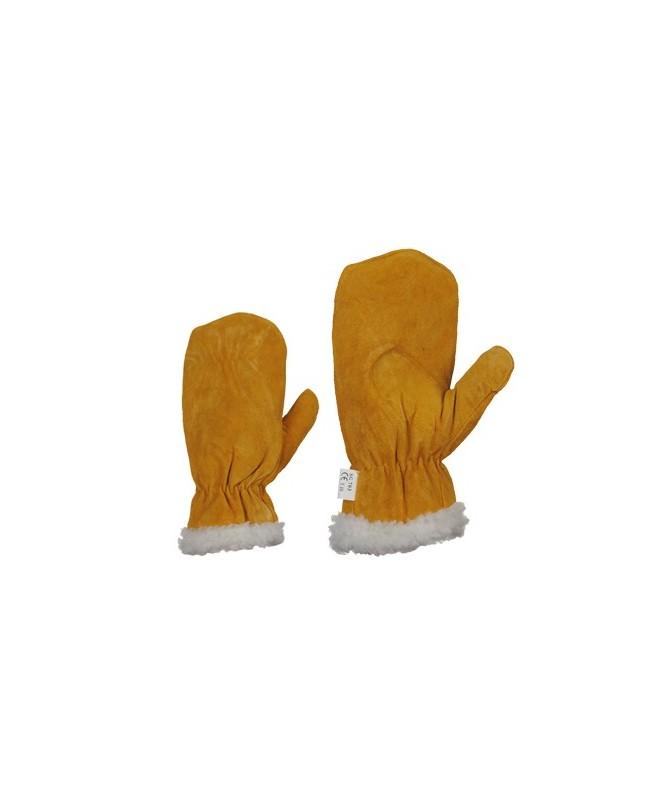 Zamšādas cimdi/dūraiņi  ar biezās kažokādas oderi