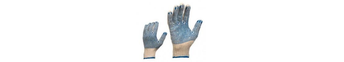 Knitted gloves, gloves for work, work gloves, safety gloves
