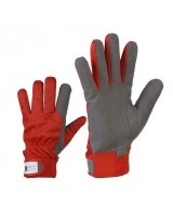 Mixed material gloves