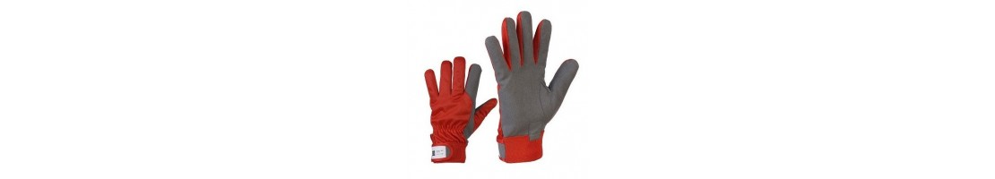 Mixed material gloves, work gloves, gloves work, leather gloves