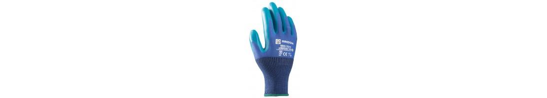 Перчатки с резиновым покрытием, резиновые перчатки