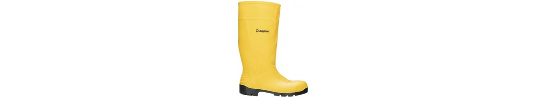 Rubber boots, water resistant footwear
